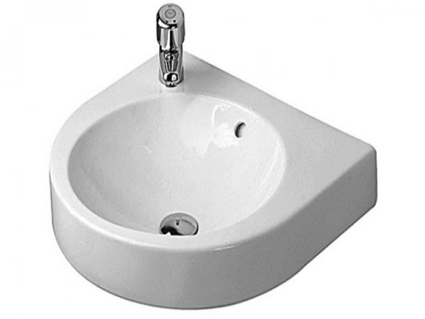 Duravit Architec 575mm washbasin with overflow, with tap hole bench, tap hole pre-stitched left
