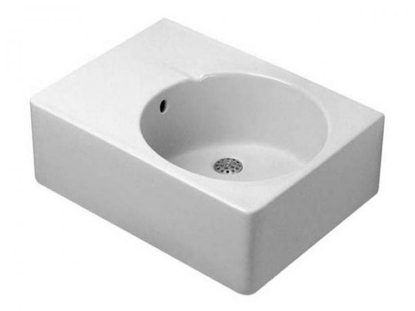 Duravit universal sink Scola 615mm with overflow, tap hole pre-punched sink right