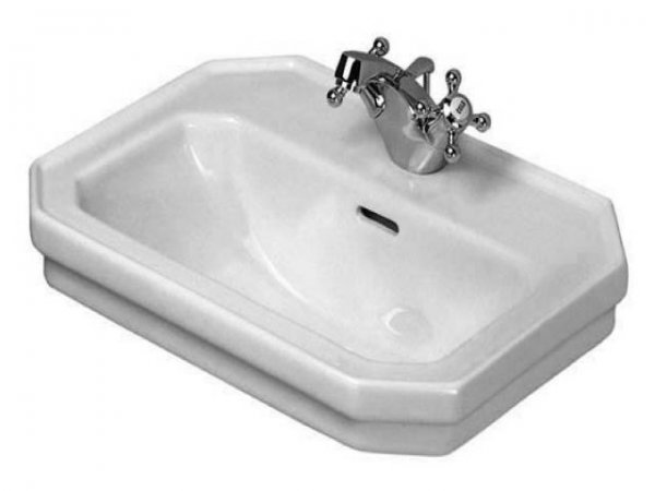 Duravit 1930 hand-rinse basin, 50x36,5cm, with overflow, 1 tap hole