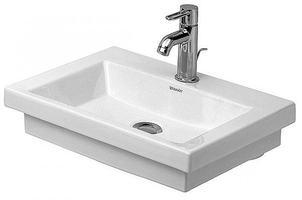 duravit handwaschbecken 2nd floor 50cm mit hahnlochbank 1 hahnloch. Black Bedroom Furniture Sets. Home Design Ideas
