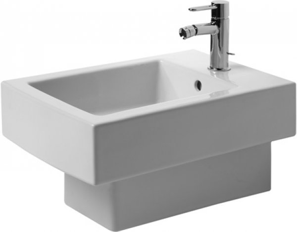 Duravit wall mounted bidet Vero 54cm, with overflow, with tap hole