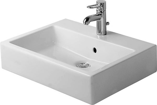 Duravit Vero 50cm, white, with overflow, with tap hole bench, 1 tap hole
