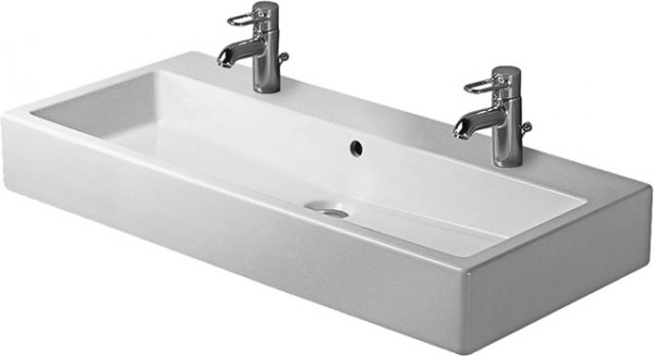 Duravit washbasin Vero 1000mm, grinded with overflow, with tap hole bench, 2 tap holes