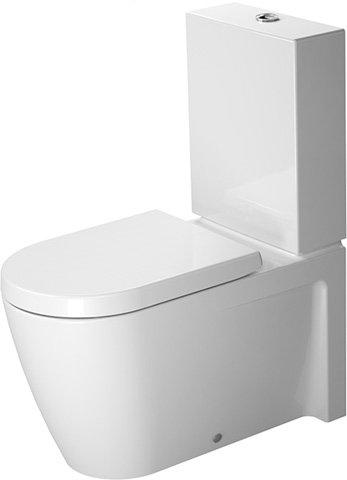 Duravit Starck 2 Stand-WC, Tiefspüler, passend für SensoWash,