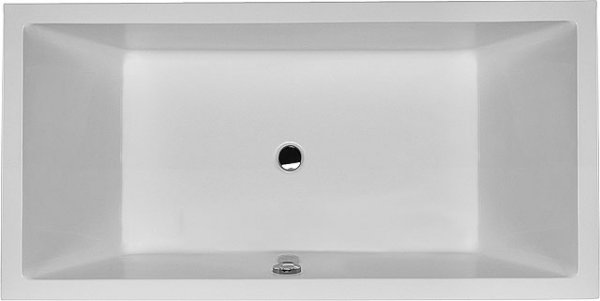Duravit Whirlpool Starck 1800x900mm recessed version with two back slopes, Airsystem