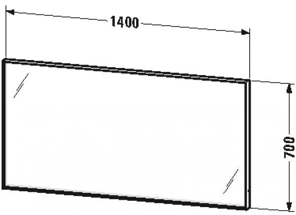 duravit l cube spiegel mit beleuchtung breite1400mm tiefe. Black Bedroom Furniture Sets. Home Design Ideas