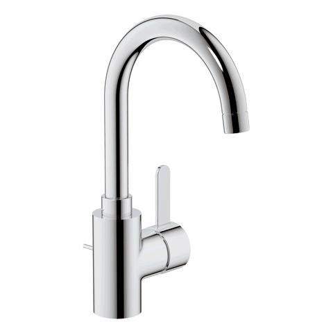 Grohe Eurosmart Cosmopolitan Single lever basin mixer, L-size with waste, with swivelling spout