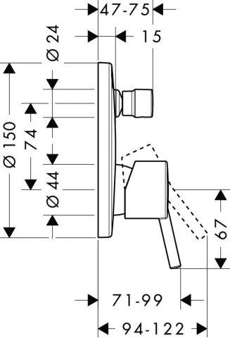 hansgrohe talis einhebel wannenmischer unterputz. Black Bedroom Furniture Sets. Home Design Ideas