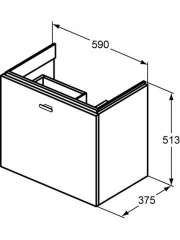 ideal standard connect space waschtischunterschrank 600mm. Black Bedroom Furniture Sets. Home Design Ideas