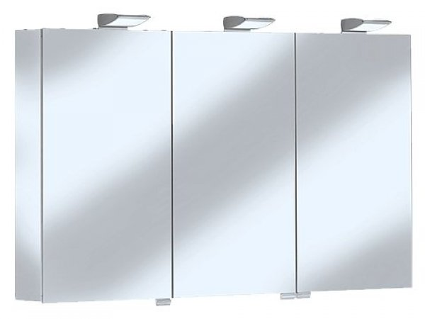 keuco royal 35 spiegelschrank 13504 3 dreht ren mit schubk sten 1300mm. Black Bedroom Furniture Sets. Home Design Ideas