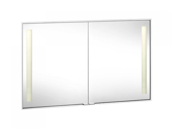 Keuco Royal Integral Spiegelschrank 26012, beleuchtet, Abdeckprofil 8,5mm, 1198mm