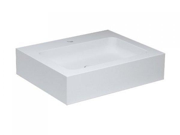 Keuco Edition 300 Waschtisch 30360, 650x155x525mm, 1 Hahnlochbohrung, weiß,