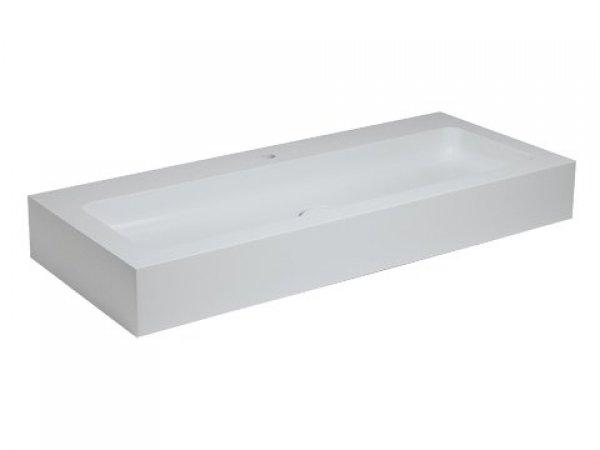 Keuco Edition 300 Waschtisch 30370, 1250x155x525mm, 1 Hahnlochbohrung, weiß