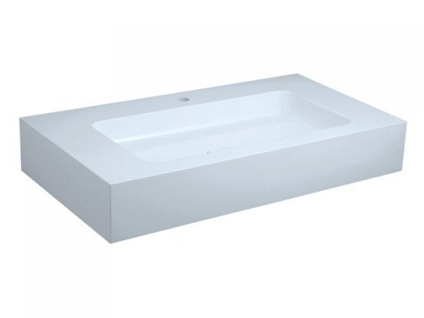 Keuco Edition 300 Waschtisch 30380, 950x155x525mm, 1 Hahnlochbohrung, weiß
