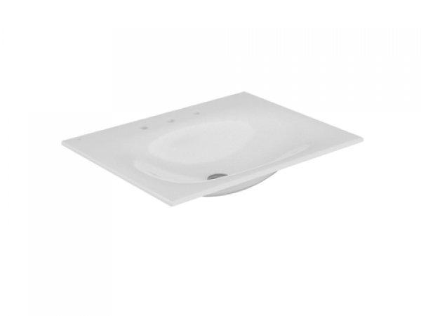 Keuco Edition 11 Keramik Waschtisch 31140, 705x17x538mm, mit 3 Hahlochbohrung, weiß