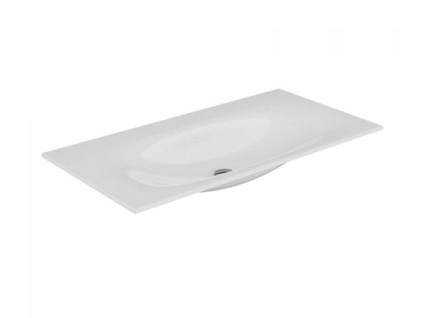 Keuco Edition 11 Keramik Waschtisch 31150, 1055x17x538mm, ohne Hahnlochbohrung, weiß