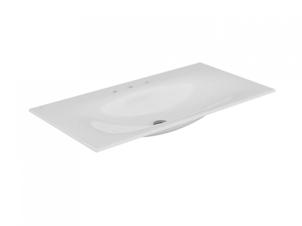 Keuco Edition 11 Keramik Waschtisch 31150, 1055x17x538mm, mit 3 Hahlochbohrung, weiß
