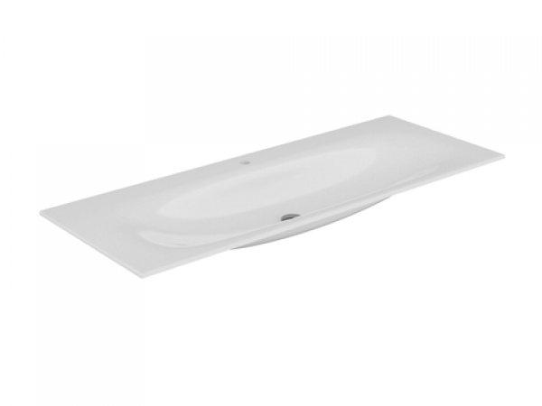 Keuco Edition 11 Keramik Waschtisch 31160, 1405x17x538mm, mit 1 Hahnlochbohrung, weiß