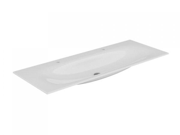 Keuco Edition 11 Keramik-Doppelwaschtisch 31160, 1405x17x538mm, mit 2x1 Hahnlochbohrung, weiß