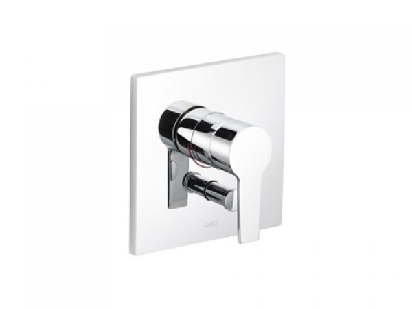 Keuco Edition 11 Single lever bath and shower mixer, 51172, flush-mounted, square, chrome-plated