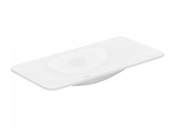 Keuco Edition 400 Keramikwaschtisch 31580, ohne Hahnlochbohrung, weiß, 800x16x400mm