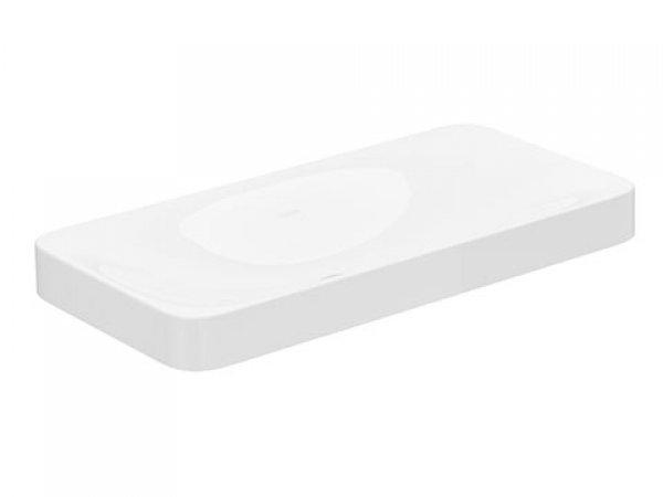 Keuco Edition 400 Keramikwaschtisch 31580, ohne Hahnlochbohrung, weiß, 800x75x400mm