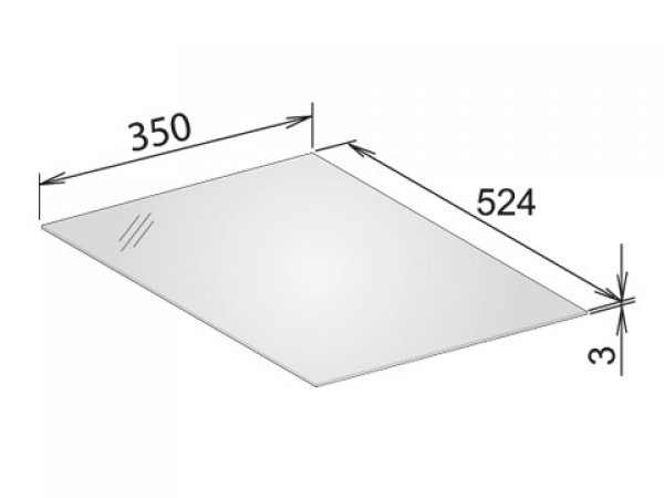 Keuco Edition 11 Abdeckplatte, 366x3x524 mm, passend zu Sideboard 31320/31321 und Waschtischunterbau, Farbe: Schwarz