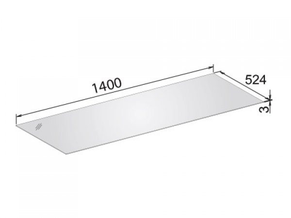Keuco Edition 11 Abdeckplatte, 1416x3x524 mm, passend zu Sideboard 31326/31327, Farbe: Trüffel