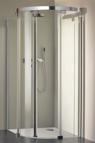 Koralle quadrant shower sliding door S600 VKS2 90/80 radius 520 4 parts 875-895x775-795x2000mm