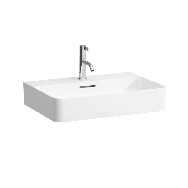 Laufen VAL Furniture washbasin, 1 tap hole, with overflow, 600x420, white